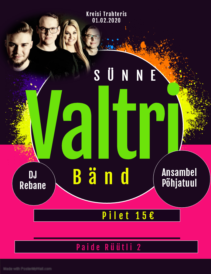 Sünne Valtri bänd, Ansambel Põhjatuul ja DJ Rebane